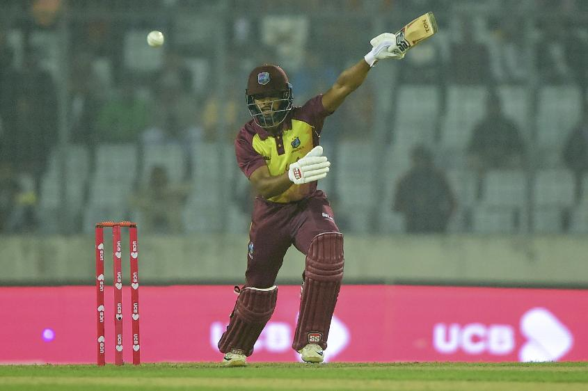 Shai Hope's good form continued, albeit briefly