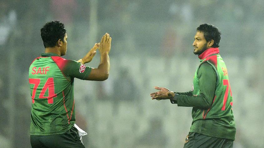 Shakib Al Hasan scored a fifty and bagged five wickets in the second T20I