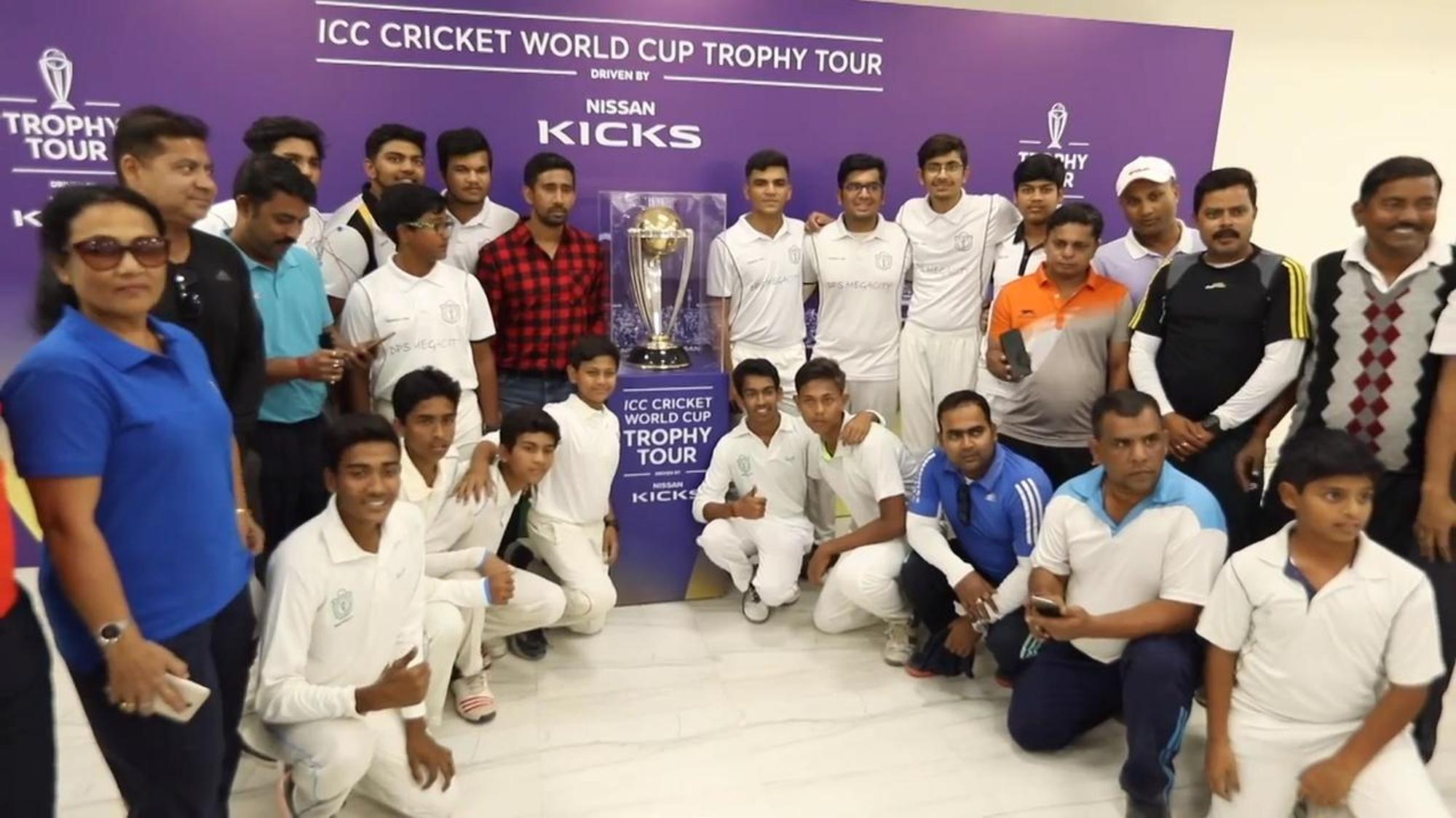 ICC #CWCTrophyTour driven by Nissan Kicks reaches the City of Joy, Kolkata