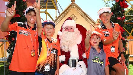 Holiday cheer with Cricket Santas