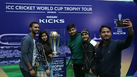 ICC Cricket World Cup Trophy Tour, driven by Nissan Kicks, in Delhi