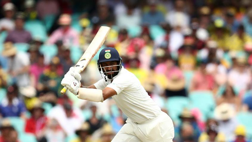 Pujara came into the match on the back of three Test centuries notched during India's tour of Australia