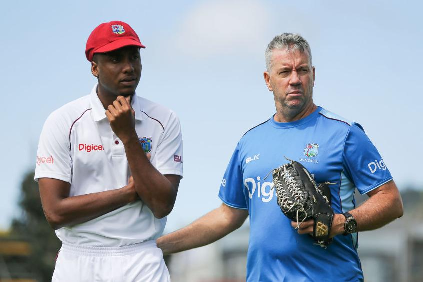 Stuart Law (R) recently left West Indies to join county side Middlesex