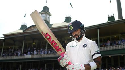 Virat Kohli, the India skipper, walked out to bat in pink gloves and grip to honour the occassion
