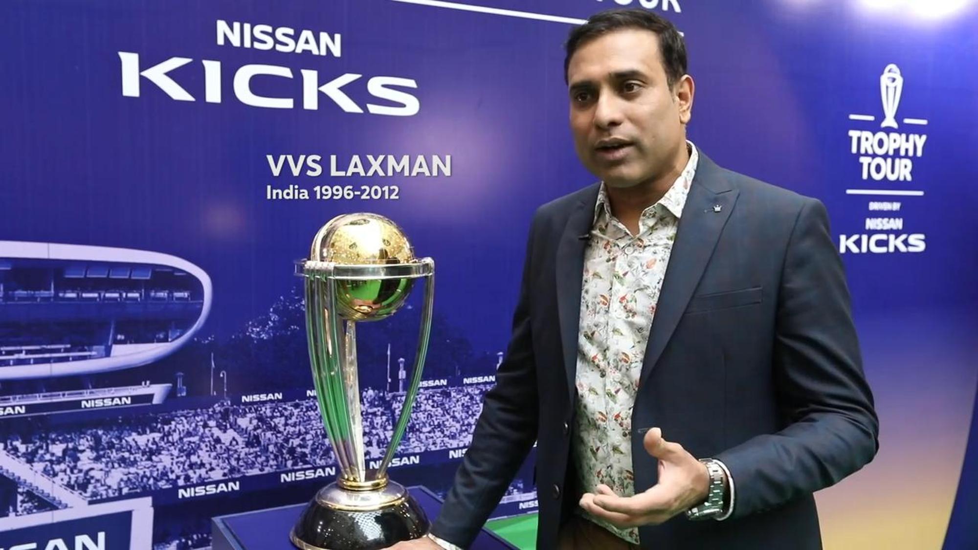Laxman joins ICC CWC Trophy Tour driven by Nissan Kicks in Delhi