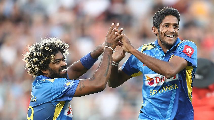 Lasith Malinga and Kasun Rajitha led the early charge against the hosts with two quick wickets apiece