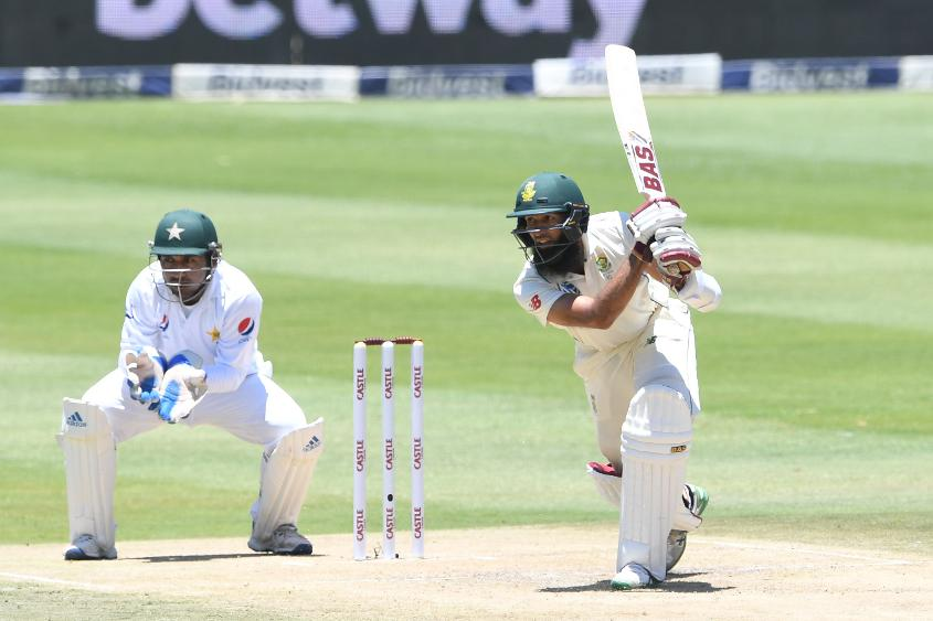 Hashim Amla helped extend South Africa's lead