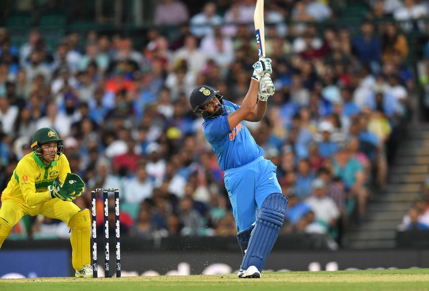 Rohit Sharma made a century but it wasn't enough