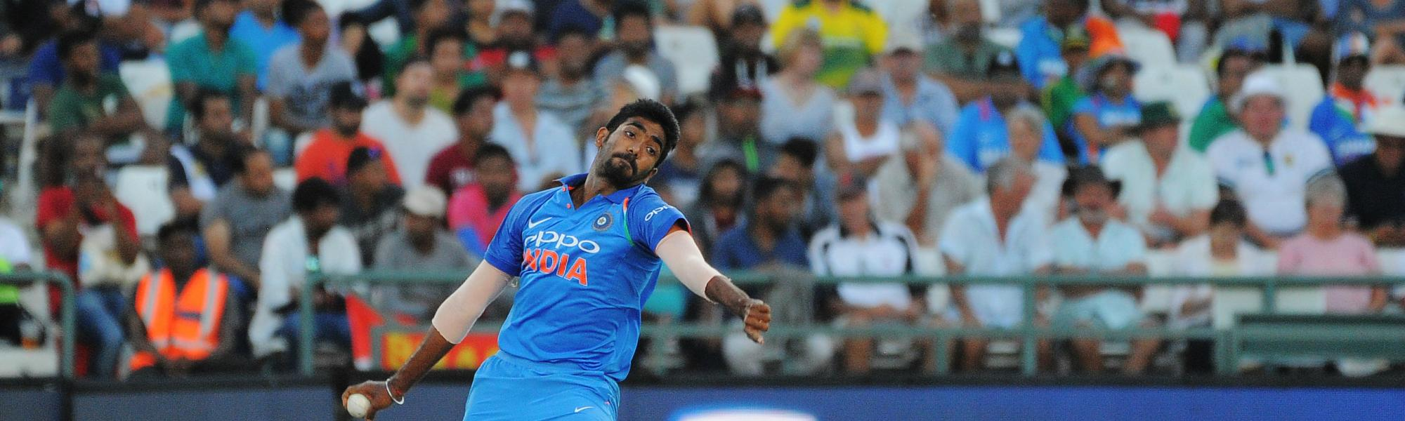 Bumrah claimed two wickets and gave away as many runs in the 19th over