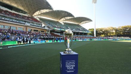 CWC trophy at the Adelaide Oval