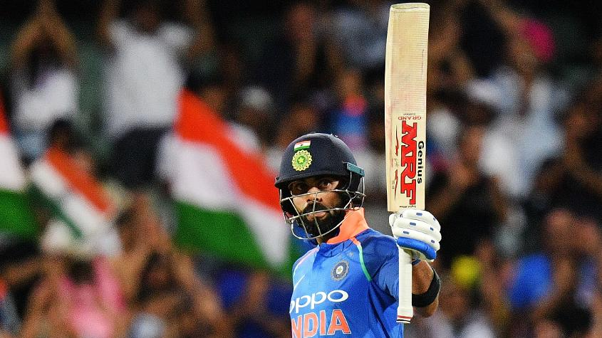 From just 14 ODIs, Virat Kohli amassed 1202 runs at an unbelievable average of 133.55 to top the overall batting charts for 2018