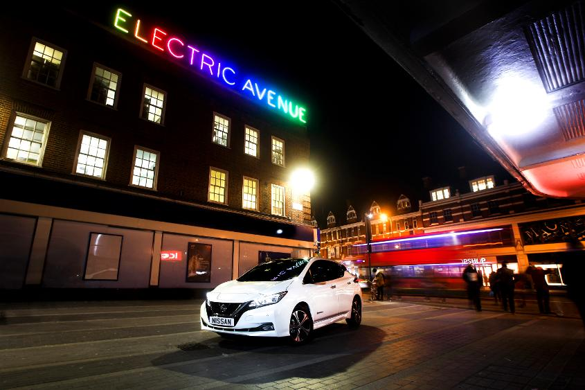 The trophy will be transported in the all-electric Nissan LEAF