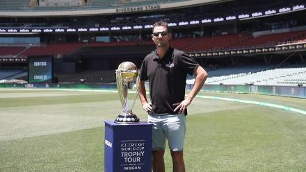 The Men's Cricket World Cup Trophy Tour hits Adelaide