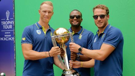 ICC Cricket World Cup Trophy Tour, driven by Nissan reaches Johannesburg
