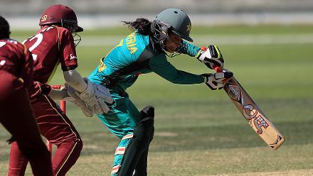 Pakistan's captain Javeria Khan hit 21