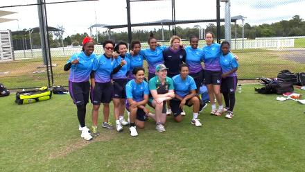 Women's Global Development Squad visits the WBBL