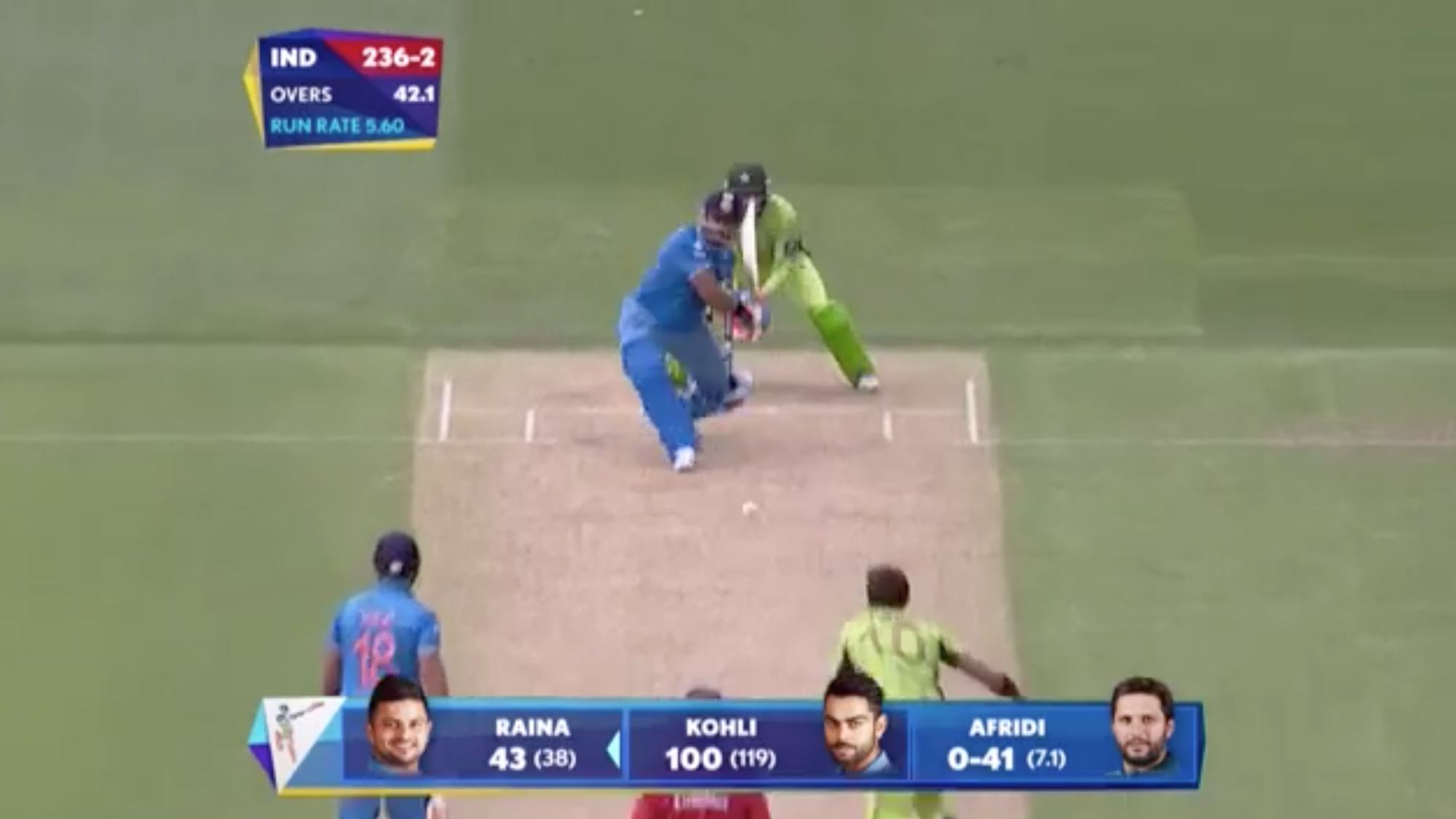 CWC15 IND vs PAK - India innings highlights