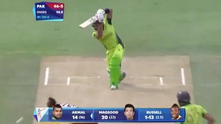 CWC15 WI v PAK - Pakistan innings highlights