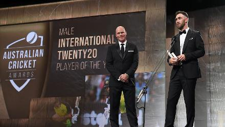 Glenn Maxwell was named Australia's International Twenty20 Player of the Year