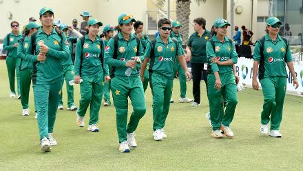 Pakistan Women celebrate their series win against the Windies Women