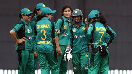 Three-wicket hauls for Diana Baig and Nashra Sandhu helped restrict the Windies Women batters