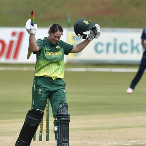 Dane van Niekerk scored her maiden one-day international century