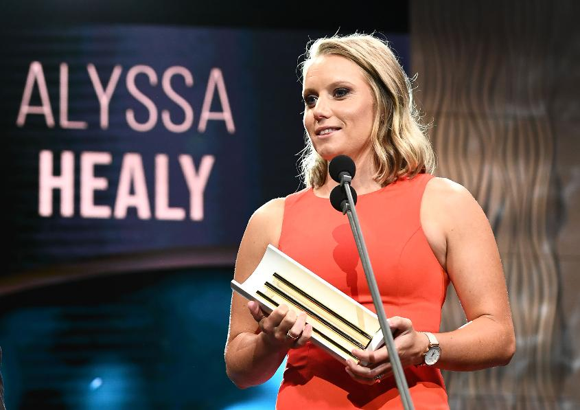 Alyssa Healy was awarded the Female One-Day International Player of the Year