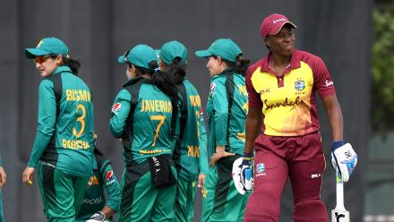 Pakistan Women celebrate a wicket