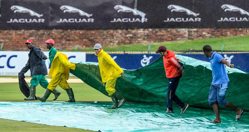 A rain delay reduced the target to 262 in 47 overs
