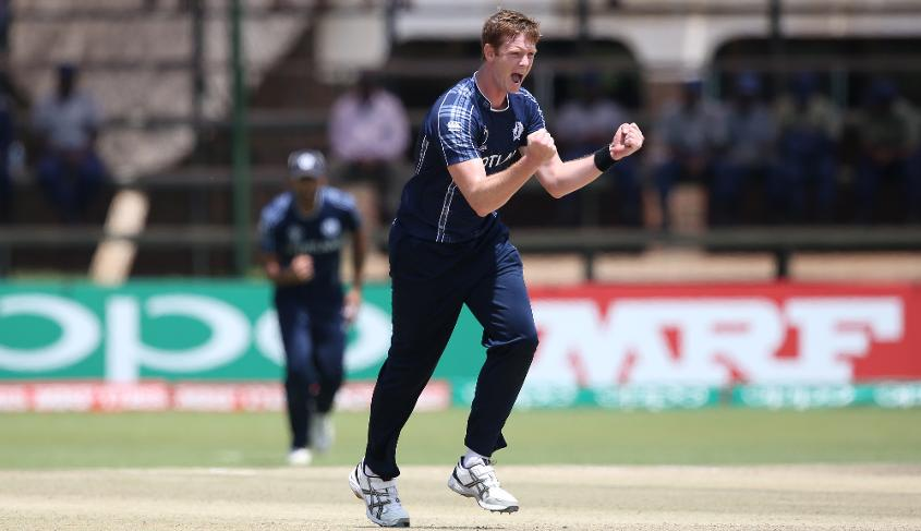 Alasdair Evans set the tone for Scotland's victory early with a wicket maiden