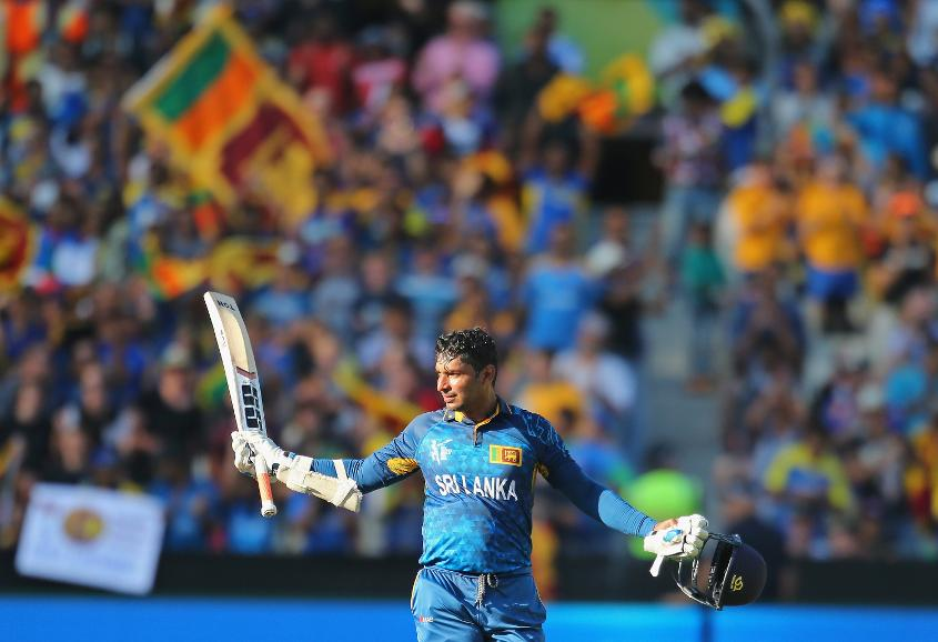 Kumar Sangakkara scored four consecutive centuries at the 2015 World Cup