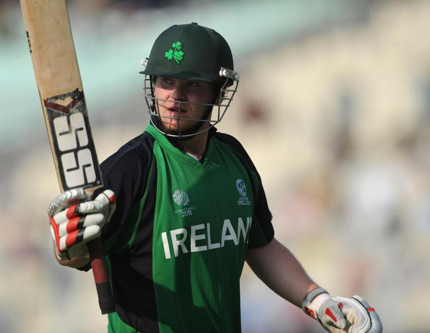 Ireland's Paul Stirling is the youngest man to make a World Cup ton