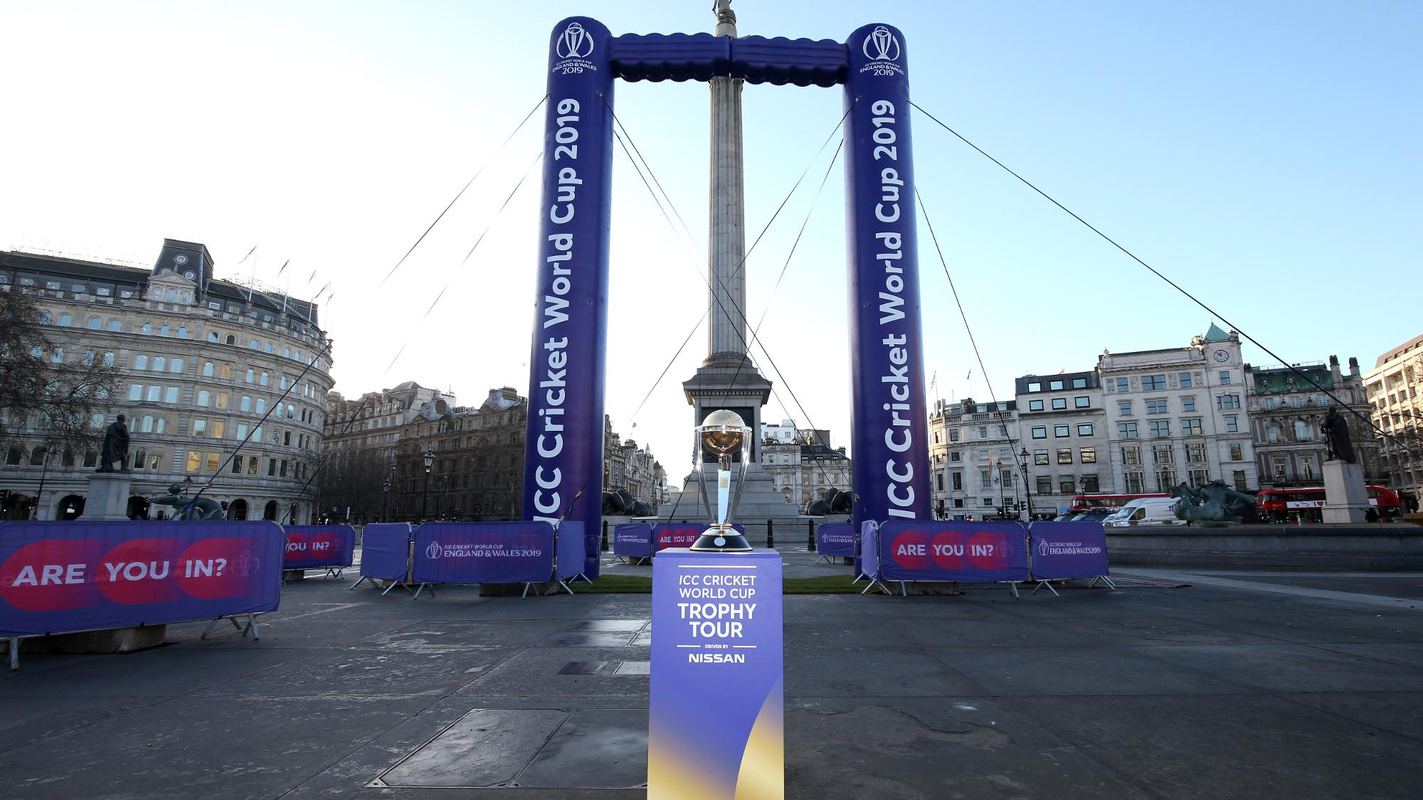 Nelson's Column takes centre stage in 100 days-to-go World Cup celebrations