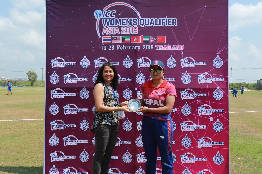 Sita Rana Magar was Player of the Match as Nepal got their campaign off to a winning start