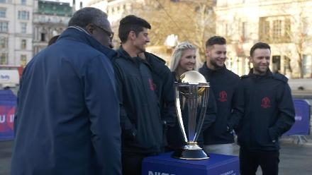 Celebrations in Trafalgar Square to mark 100 days to go until #CWC19
