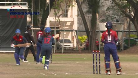 ICC Women's Asia Qualifier 2019: Thailand v Nepal – POM performance from Chanida Sutthiruang (35 runs; 1/13)