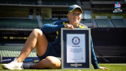 Alyssa Healy claims Guinness World Records title