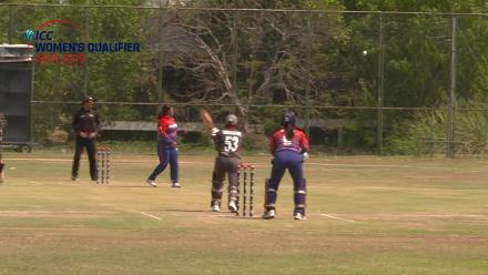 ICC Women's Asia Qualifier 2019: UAE v Nepal – K Kunwar of Nepal takes a great catch