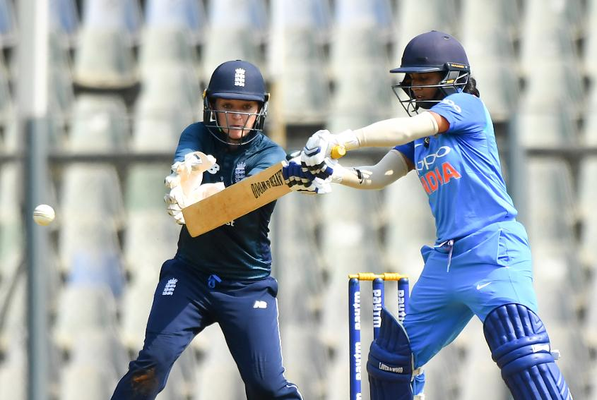 Mithali Raj stabilsed the innings from No.4 after India lost a slew of wickets. – Photo: AFP