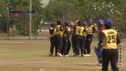 ICC Women's Asia Qualifier 2019: Thailand v Malaysia – Malaysia captain Wini Duraisangham claims a runs out