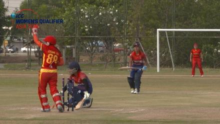 ICC Women's Asia Qualifier 2019: China v Nepal – China's Zhang Chan completes two stumpings
