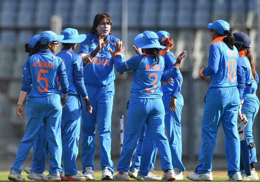 Goswami picked up four wickets in the second ODI