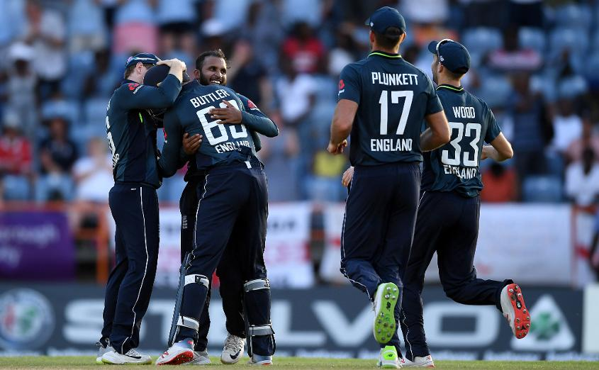Adil Rashid hastened England's victory charge with four wickets in an over