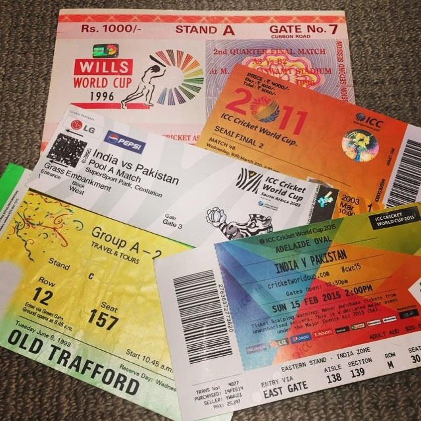 """I have hundreds of ticket stubs and match-day programmes of all the matches I've been to around the world,"" says Patel."