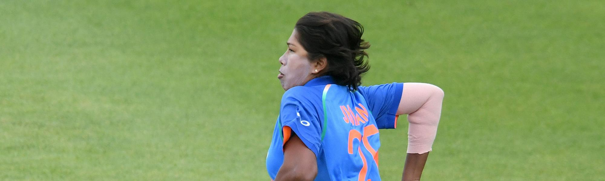 Jhulan Goswami accounted for the key wicket of Suzie Bates in her very first over
