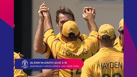 CWC Greatest Moments -McGrath snuffs out South Africa in 2007