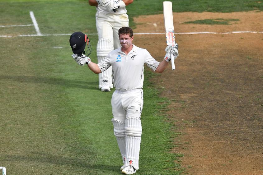 Henry Nicholls scored his fifth Test century