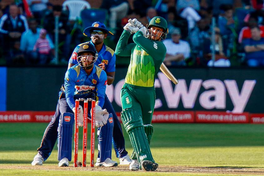 Quinton de Kock registered his fourth consecutive 50-plus score in the series