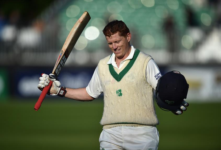 Though Ireland lost the match, Kevin O'Brien was named Player of the Match for his century in Ireland's debut Test