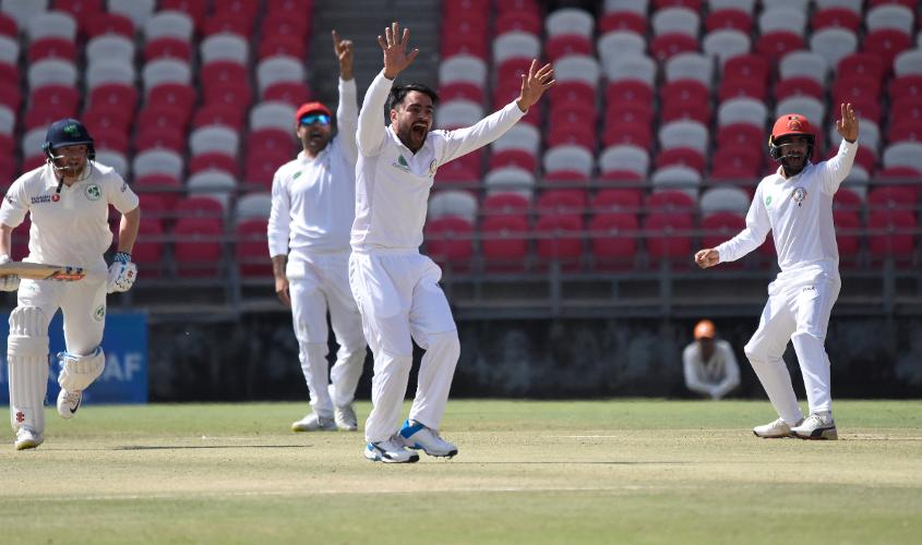 Rashid became the first player from Afghanistan to claim a five-wicket haul with the red ball
